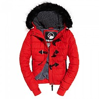 [해외]슈퍼드라이  Microfibre Toggle Puffer Red