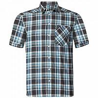 [해외]오들로 Anmore Shirt S/S Odlo Graphite Grey / Ehite / Blue Jewel / check