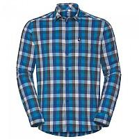 [해외]오들로 Shirt L/S Meadow Lo Dresden Blue / Black / White