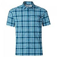 [해외]오들로 Fairview Shirt S/S White / Blue Jewel / Odlo Graphite Grey / Check