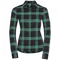 [해외]오들로 Fairview Blouse L/S Mint Leaf / Black / Odlo Graphite Grey / Check