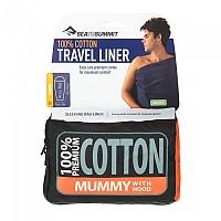 [해외]씨투서밋 Premium Cotton Travel Liner Mummy w / Hood&Box foot Eucalipto Green Eucalipto