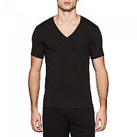 [해외]캘빈클라인 UNDERWEAR 2 Pack S/S V Neck T Shirt Slim Fit Black