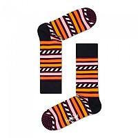 [해외]HAPPY SOCKS Stripes And Stripes Orange