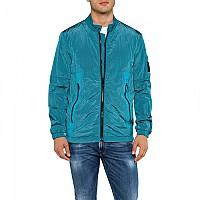 [해외]리플레이 Garment Dyed Crinckle Nylon Teal Blue