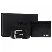 [해외]리플레이 Set Belt&Wallet Black