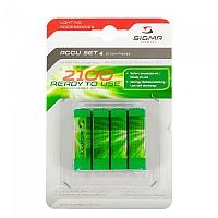 [해외]시그마 4 x AA RTU Rechargable Batteries Black