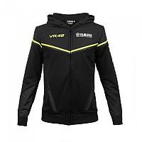 [해외]VR46 Fleece Full Zip Hoodie Yamaha Black