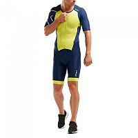 [해외]2XU Performance Full Zip Sleeved Trisuit Navy / Limeade