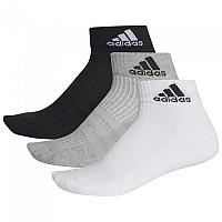 [해외]아디다스 3s Performance Ankle Half Cushioned 3pp Black / Grey / White