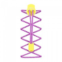 [해외]NATHAN Reflective Lock Laces Reflective Floro Fuschia / Celeste Yellow
