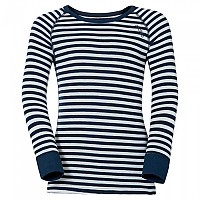 [해외]오들로 Shirt L/S Crew Neck Warm Kids Snow White / Navy New
