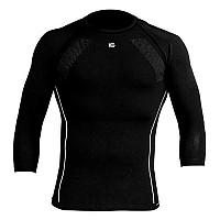 [해외]SPORT HG Compressive 3/4 Sleve Shirt Black