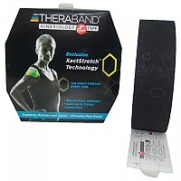 [해외]THERABAND Kinesiology Tape Precut 5 m Black