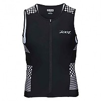 [해외]ZOOT Performance Tri Full-Zip Tank Silver Checkers