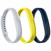 [해외]핏빗 Flex 2 Sport Bands 3-Pack Navy / Gray / Yellow