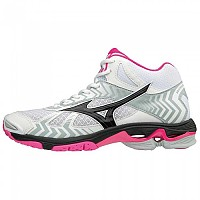 [해외]미즈노 Wave Bolt 7 Mid White / Black / Pink Glow