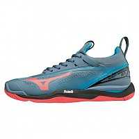 [해외]미즈노 Wave Mirage 2.1 Blue Mirage / Fiery Coral / Black