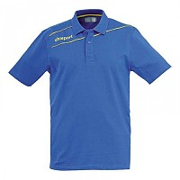 [해외]UHLSPORT Stream 3.0 Polo Shirt Azurblue / Cornyellow