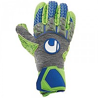 [해외]UHLSPORT Tensiongreen Supergrip Finger Surround Dark Grey Melange / Fluo Green