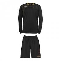 [해외]UHLSPORT Match Team Kit Shirt&Shorts Ls Black / Gold