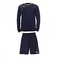 [해외]UHLSPORT Match Team Kit Shirt&Shorts Ls Navy / White