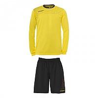 [해외]UHLSPORT Match Team Kit Shirt&Shorts Ls Lime Yellow / Black
