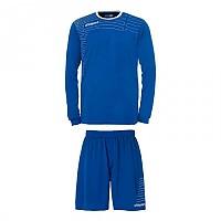 [해외]UHLSPORT Match Team Kit Shirt&Shorts Ls Azurblue / White