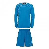 [해외]UHLSPORT Match Team Kit Shirt&Shorts Ls Cyan / White