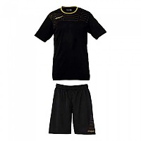 [해외]UHLSPORT Match Team Kit Shirt&Shorts Ss Women Black / Gold
