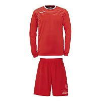 [해외]UHLSPORT Match Team Kit Shirt&Shorts Ls Women Red / White