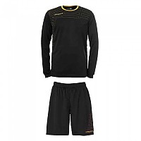 [해외]UHLSPORT Match Team Kit Shirt&Shorts Ls Women Black / Gold