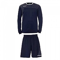 [해외]UHLSPORT Match Team Kit Shirt&Shorts Ls Women Navy / White