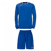 [해외]UHLSPORT Match Team Kit Shirt&Shorts Ls Women Azurblue / White