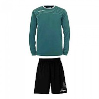 [해외]UHLSPORT Match Team Kit Shirt&Shorts Ls Women Lagoon / White