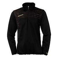 [해외]UHLSPORT Match 1/4 Zip Top Women Black / Gold