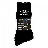 [해외]엄브로 Sports Socks 3 Pack Black