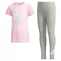 [해외]아디다스 Little Girl Set True Pink / Medium Grey Heather