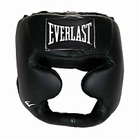 [해외]EVERLAST EQUIPMENT Leather Full Protection Headgear Black