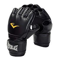 [해외]EVERLAST EQUIPMENT Leather Grappling Gloves Black
