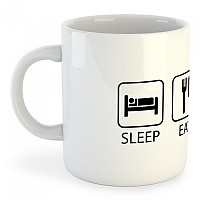 [해외]KRUSKIS Mug Sleep Eat And Train White