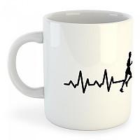 [해외]KRUSKIS Mug Runner Heartbeat 325ml White