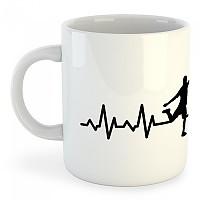 [해외]KRUSKIS Mug Soccer Heartbeat 325ml White