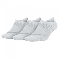 [해외]나이키 Everyday Plus Lightweight Footie 3 Pair White / Wolf Grey