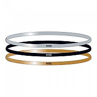 [해외]나이키 ACCESSORIES Elastic Hairbands 3 Units Silver / Gold / Black