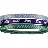 [해외]나이키 ACCESSORIES Printed Hazard Stripe Headband Pack 3 Units Green / Purple / Grey