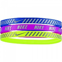 [해외]나이키 ACCESSORIES Printed Hazard Stripe Headband Pack 3 Units Royal / Magenta / Volt
