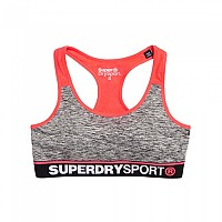 [해외]슈퍼드라이 Gym Panel Sports Bra Charcoal Grit
