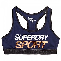 [해외]슈퍼드라이 Sport Essential Graphic Bra Dark Navy