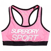 [해외]슈퍼드라이 Sport Essential Graphic Bra Pop Pink
